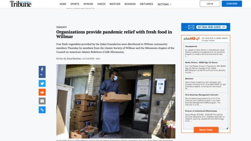 المنظمات الخيرية تقدم المواد الغذائية الإغاثية لمواجهة جائحة كورونا في ويلمار