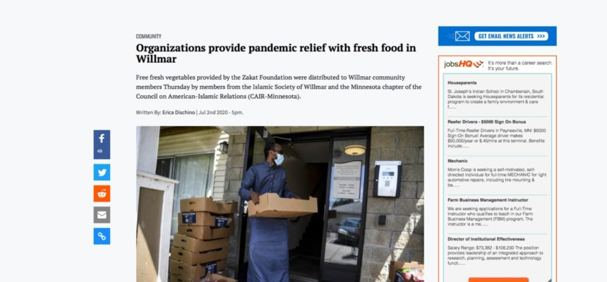 Organizations provide pandemic relief with fresh food in Willmar
