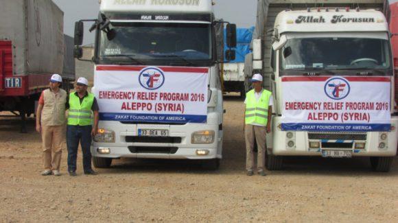 قوافل مساعدات مؤسسة الزكاة الأميركية للمحاصرين في مدينة حلب