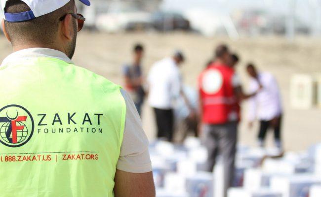 مؤسسة الزكاة الأميركية توزع الطرود الغذائية للنازحين العراقيين في ابريل
