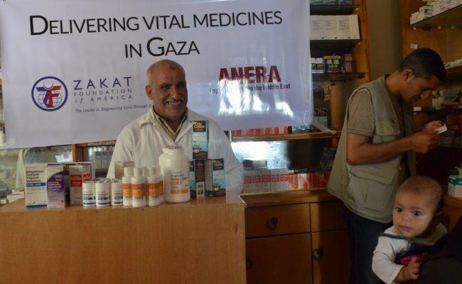 سلمت مؤسسة الزكاة الأميركية وانيرا مساعدات طبية لأهالي غزة