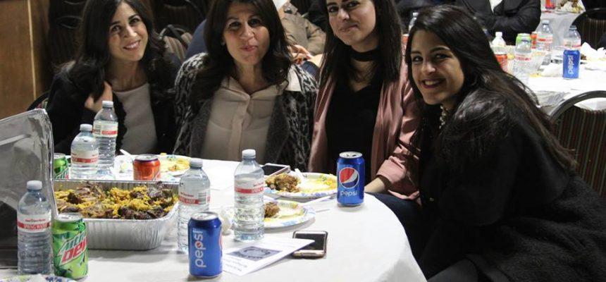 عشاء طلابي خيري لصالح اللاجئين