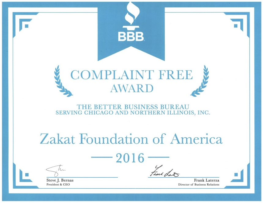 ZF Receives Complaint Free Award