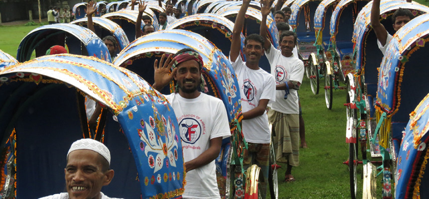 2013 – 100 RICKSHAWS FOR BANGLADESH