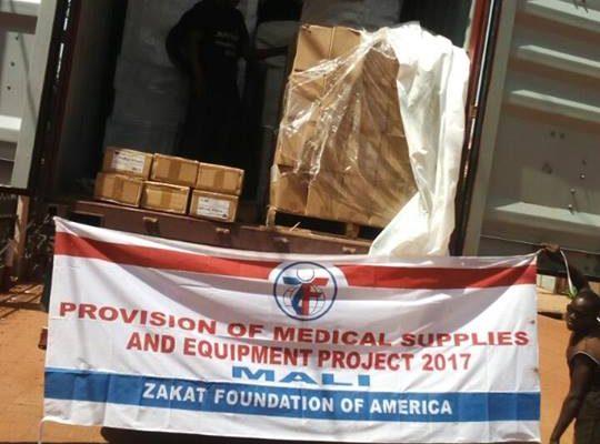 الزكاة ترسل مساعدات طبية إلى  مالي