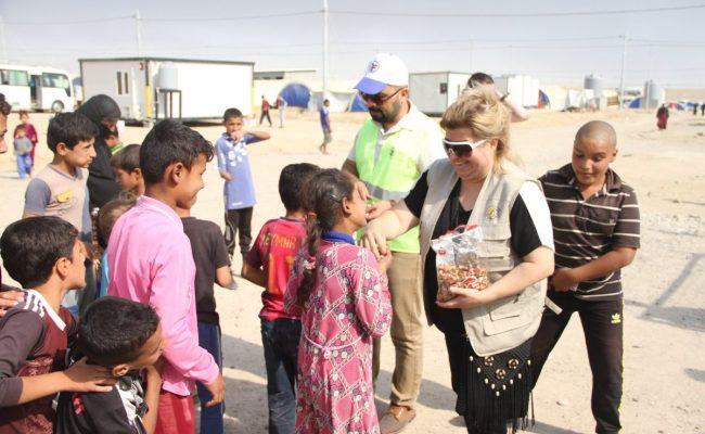 مساعدات الزكاة للنازحين من الموصل
