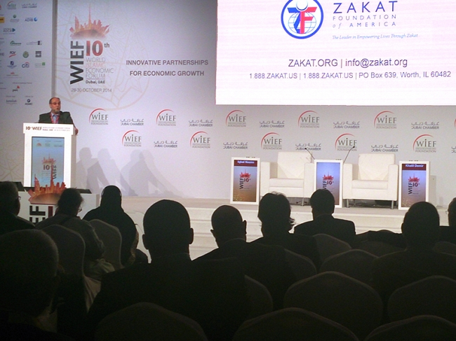dresses Forum on Zakat and Economic Justice at WIEF