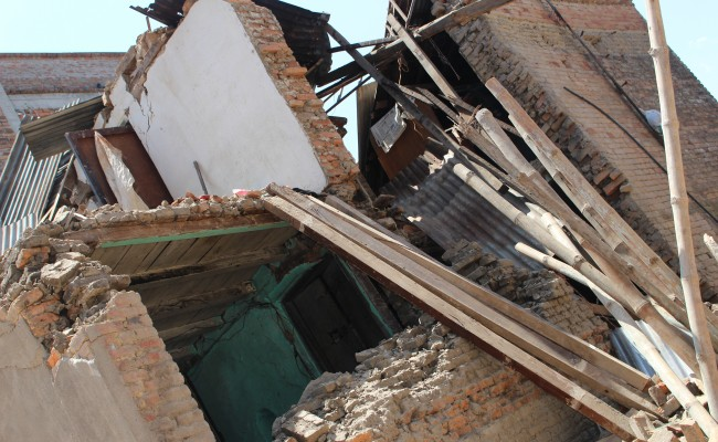 a torn apart building