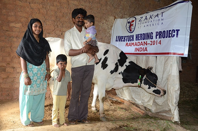 Livestock Gift Gives Earning Power to Indian Mother and Family