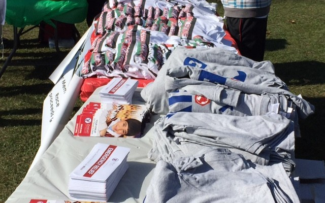 T-shirts and marchidise from the event