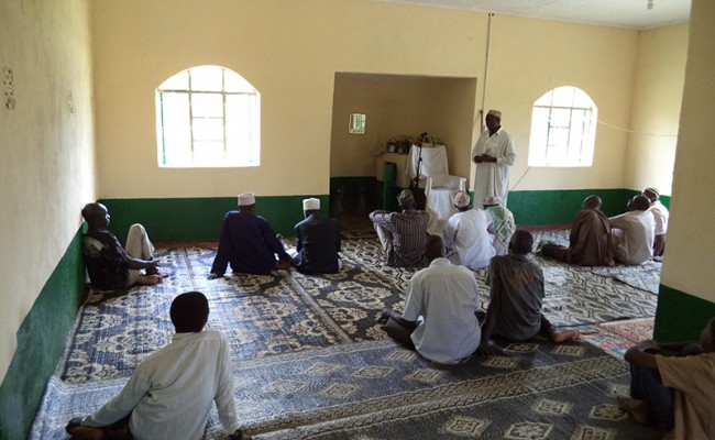 people in the mosque