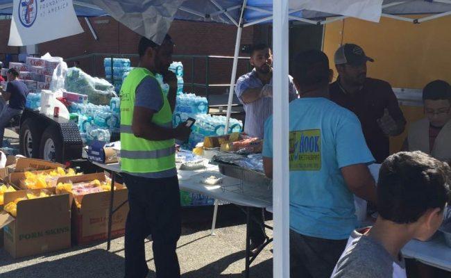 مؤسسة الزكاة  تساعد المتضررين من الفيضانات في جنوب شرق امريكا