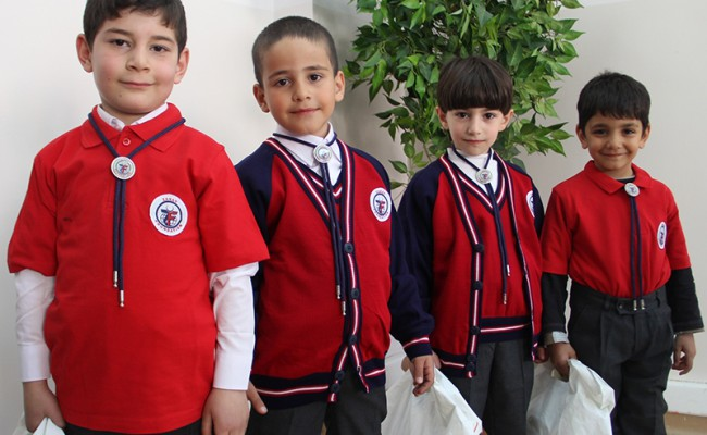little boys in their new uniforms