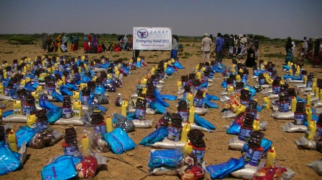 emergency relief kits set up