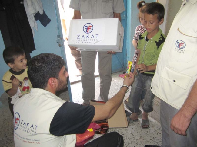 ZF Distributing Blankets and Food Packages to Syrian Refugees