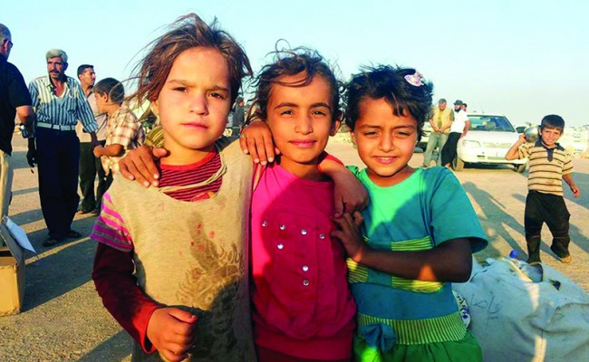 group of three little girls