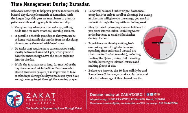 Time Management for the Busy and Blessed During Ramadan