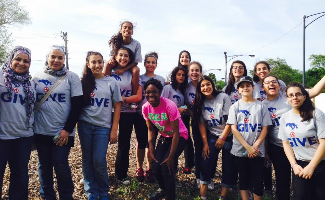 Girl Scouts Plant Urban Food Garden